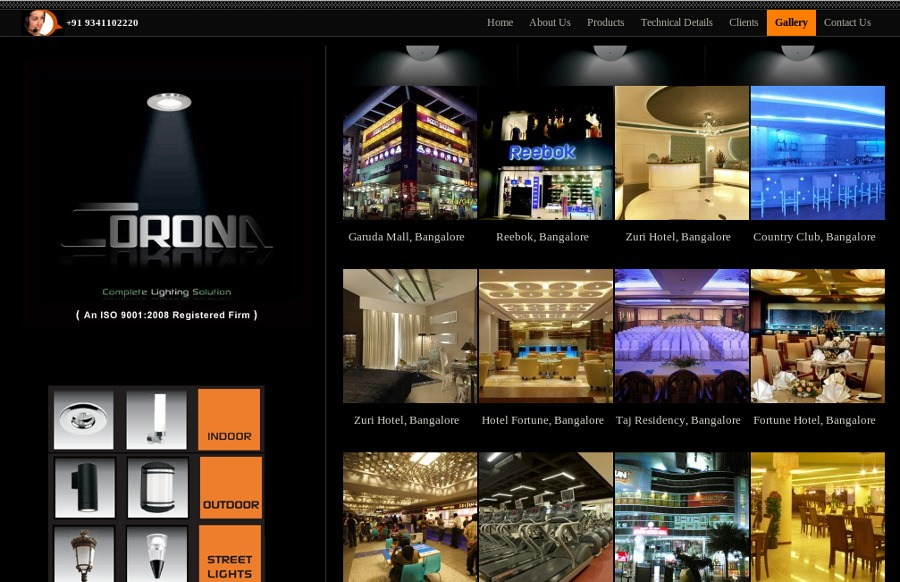 A great web design by 8i Creations, Bangalore, India: