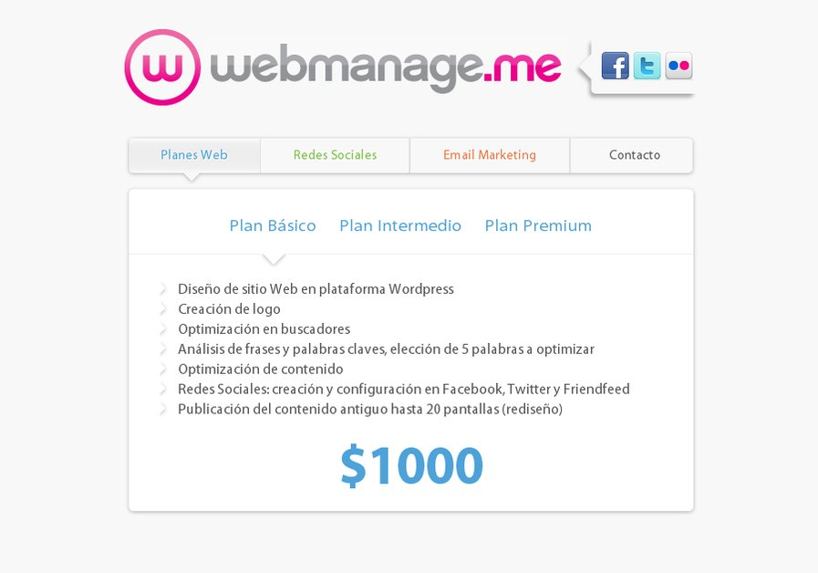 A great web design by webmanage.me, Buenos Aires, Argentina: