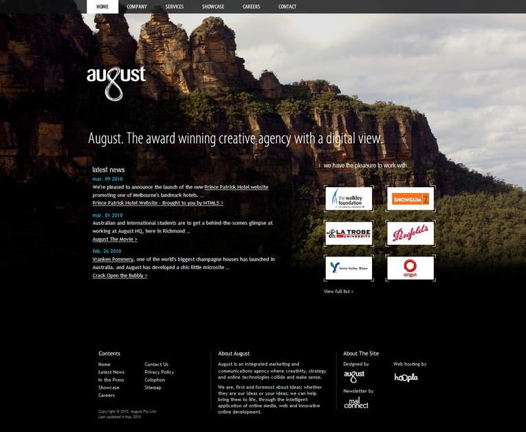 A great web design by August, Melbourne, Australia: