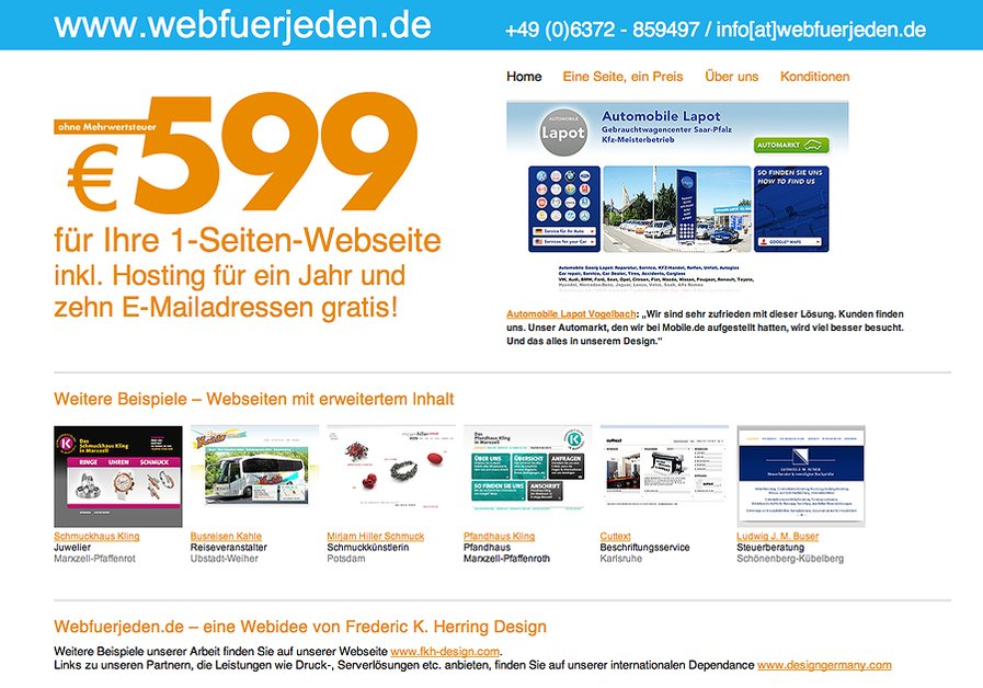 A great web design by Webfuerjeden | Websites for everyone, Kaiserslautern, Germany: