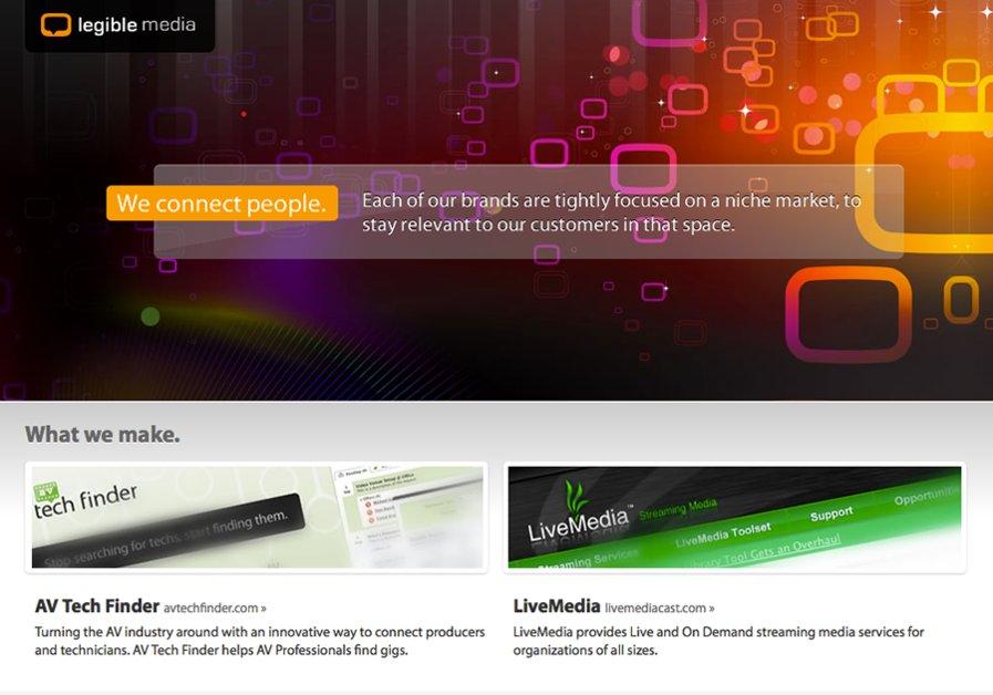 A great web design by Legible Media, Dallas, TX: