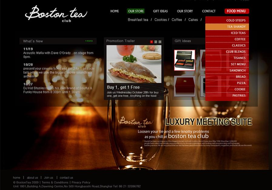 A great web design by iSens design studio, Shanghai, China:
