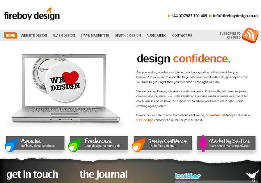 A great web design by Fireboy Design, Portsmouth, United Kingdom: