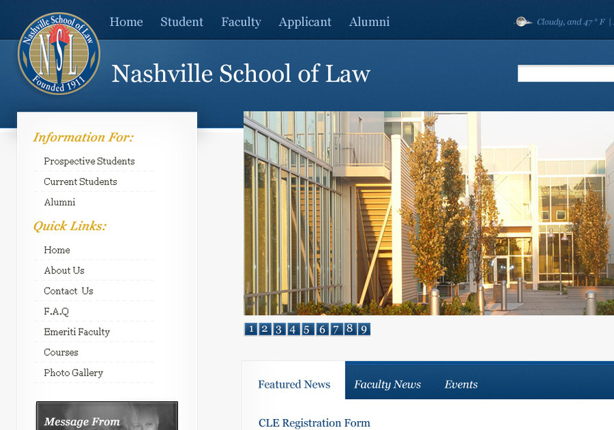 A great web design by Justin Wohler, Nashville, TN: