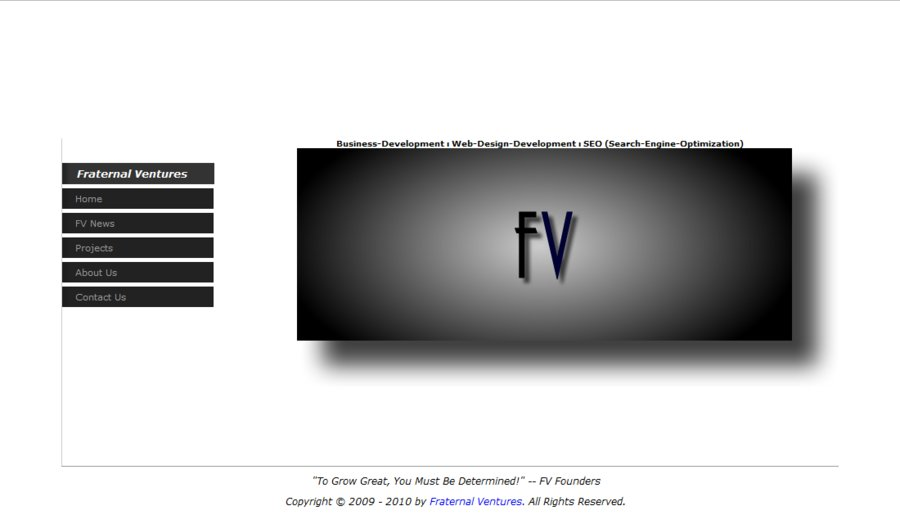 A great web design by Fraternal Ventures, New York, NY: