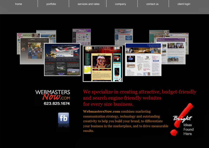 A great web design by WebmastersNow.com, Phoenix, AZ: