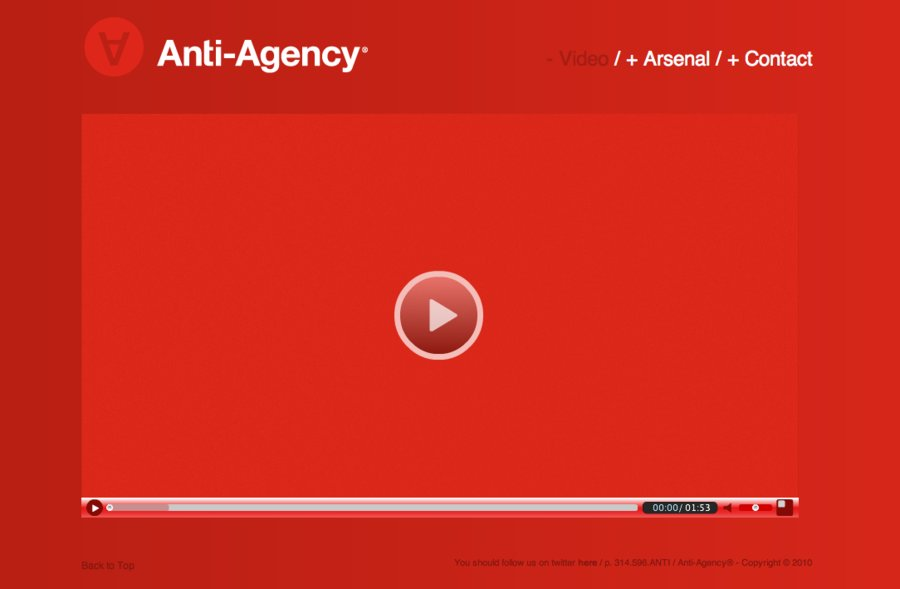 A great web design by Anti-Agency, St Louis, MO: