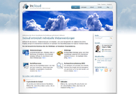 A great web design by Incloud GmbH, Darmstadt, Germany: