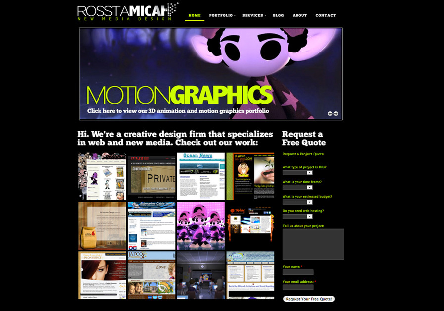 A great web design by Rosstamicah Design, Boca Raton, FL: