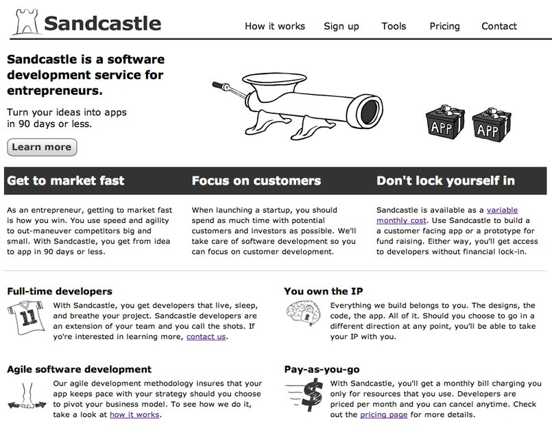 A great web design by Sandcastle, New York, NY:
