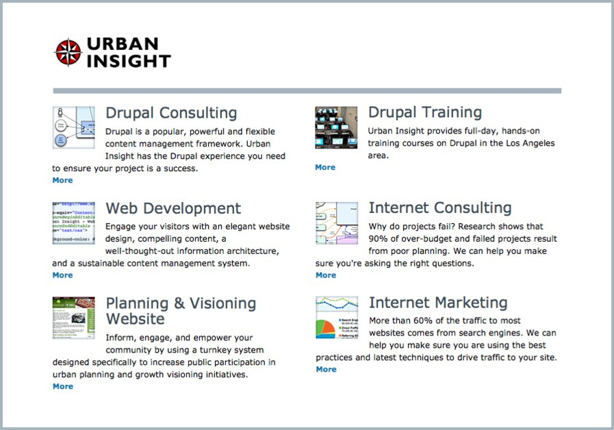 A great web design by Urban Insight, Los Angeles, CA: