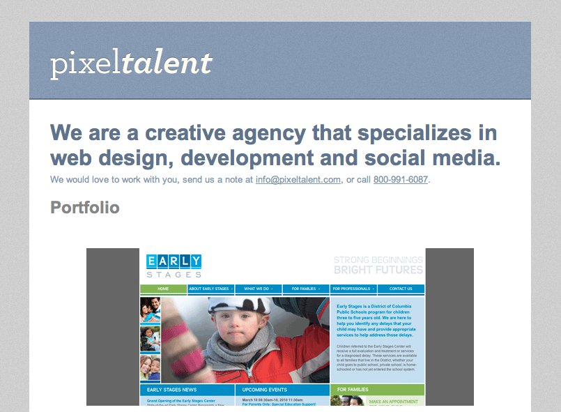 A great web design by PixelTalent, Inc., Jacksonville, FL: