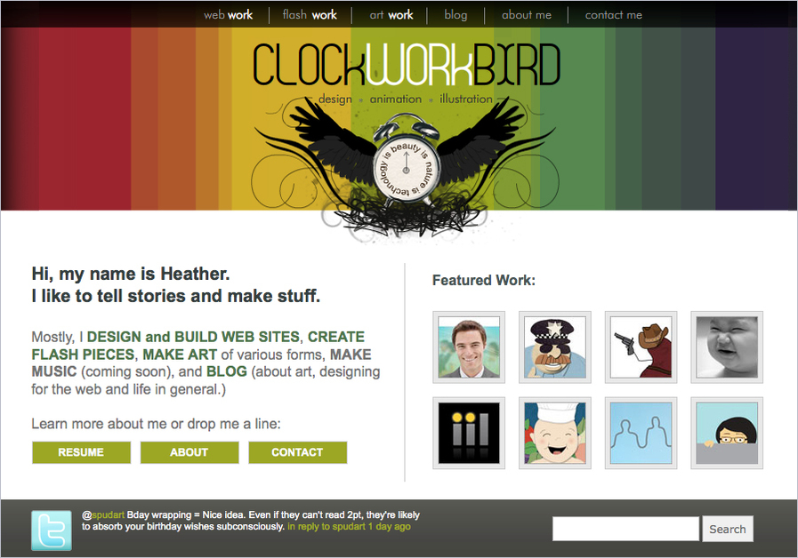 A great web design by Clockworkbird, Chicago, IL:
