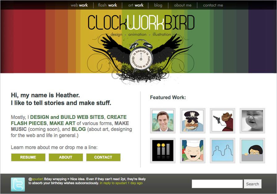 A great web design by Clockworkbird, Chicago, IL: