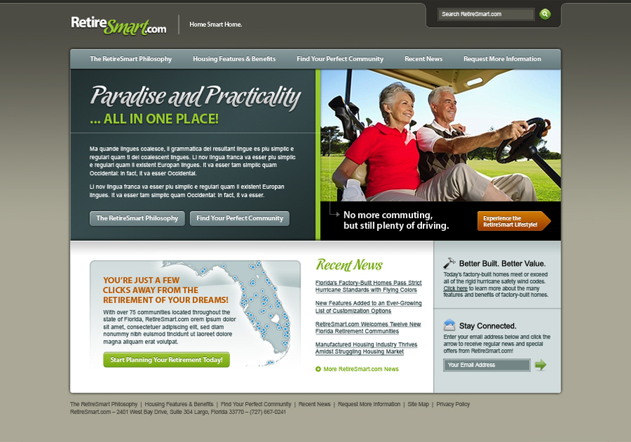 A great web design by Sinclair Design Group, Inc., Tampa, FL: