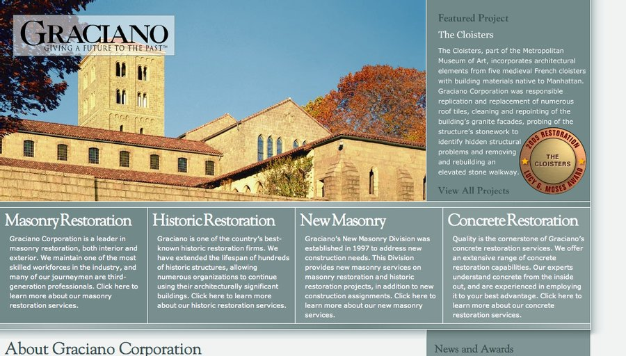 A great web design by OBD Creative, Pittsburgh, PA: