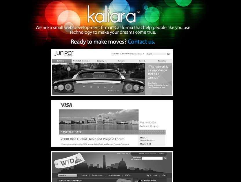 A great web design by Kaliara, New York, NY: