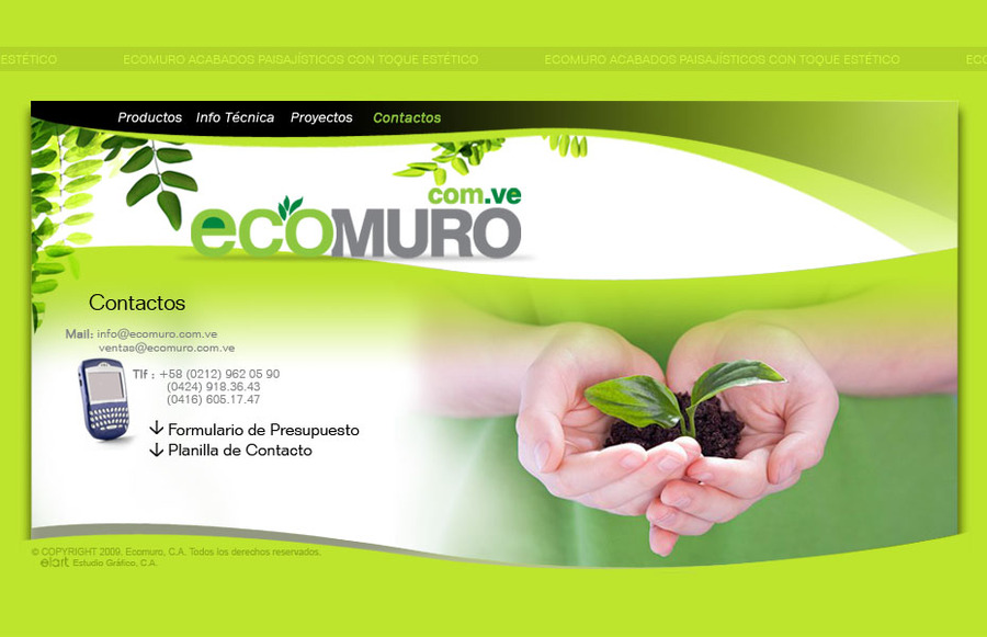 A great web design by Elart Estudio Grafico, Caracas, Venezuela: