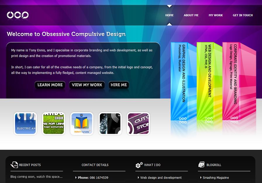 A great web design by Obsessive Compulsive Design, Dublin, Ireland: