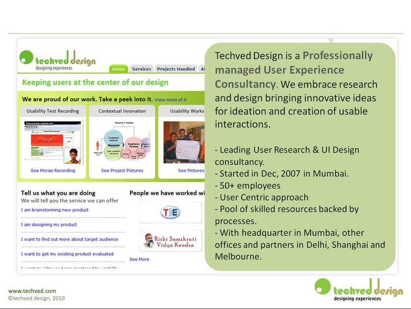 A great web design by Techved Design, Mumbai, India: