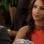 Young and The Restless Fashion Get Lily Winters Ashby's Red Jeweled Color Dress For Less - Christel Khalil's Style!