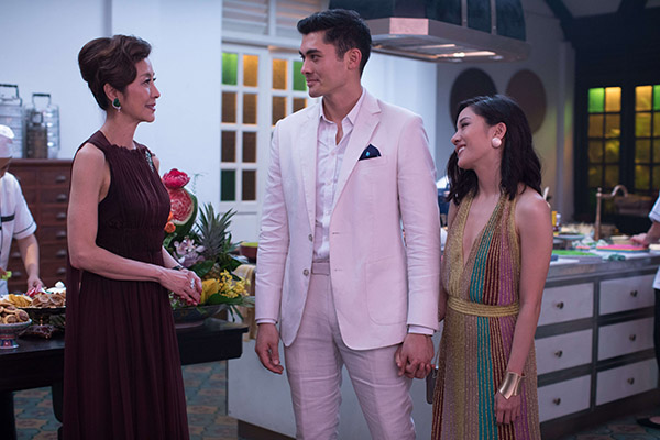 Crazy Rich Asians Constance Wu, Michelle Yeoh, Henry Golding