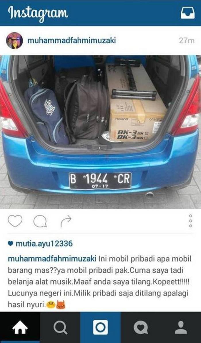 Mobil ditilang karena bawa barang