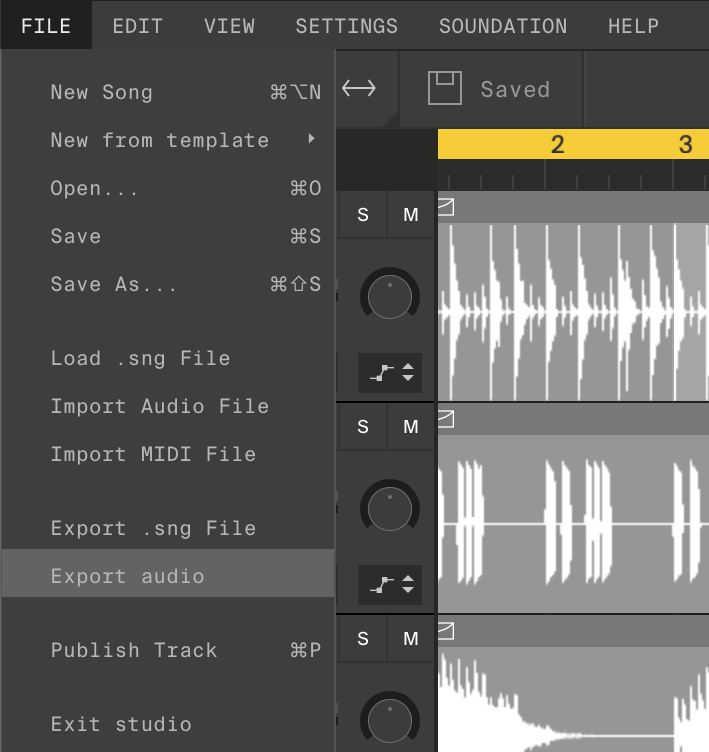 Soundation — Learn | How-to: Export your song