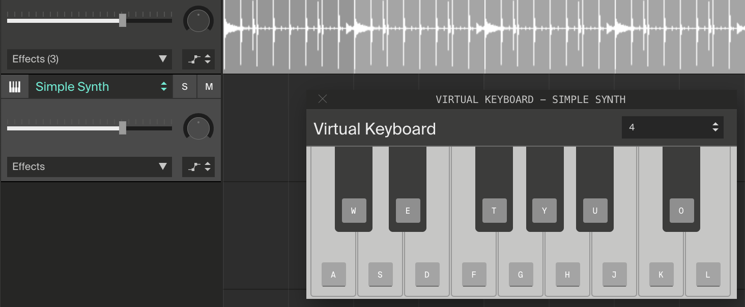 Soundation — Learn | How-to: Use the Virtual Keyboard