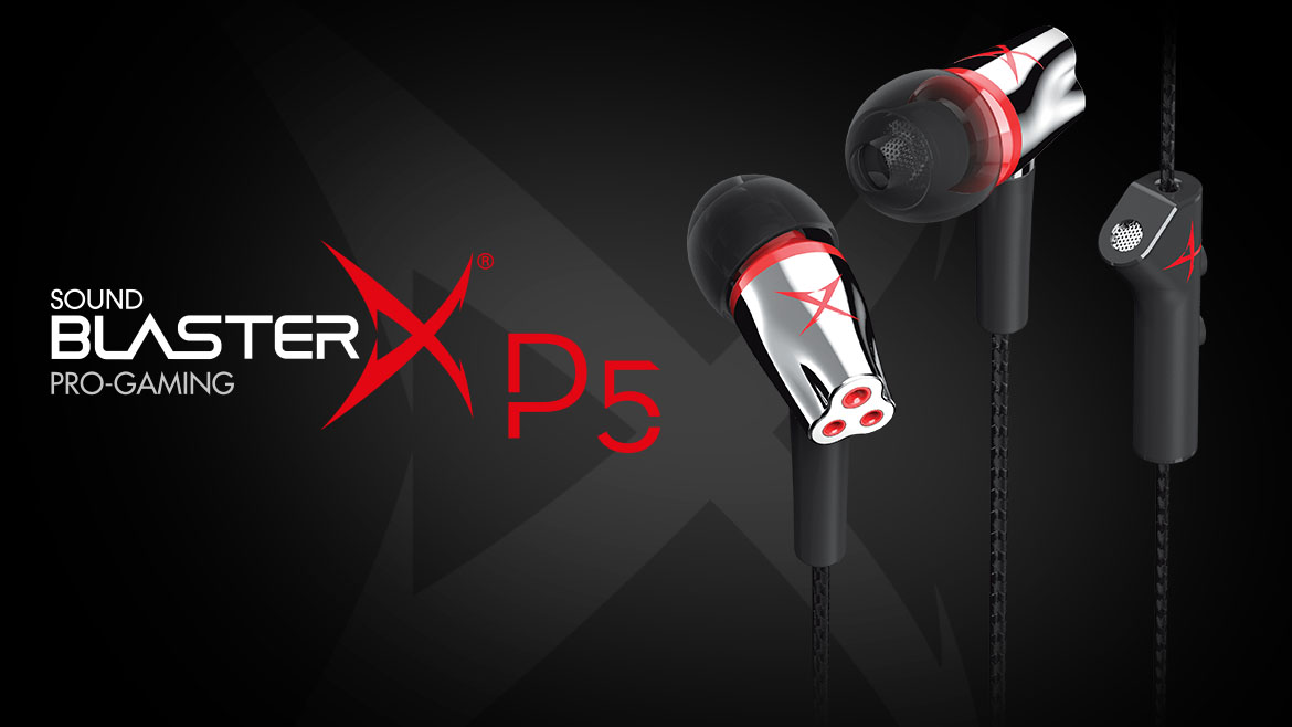 Unleashing Sound BlasterX P5: High-performance In-ear Gaming Headsets for Ultra-Realistic Gaming