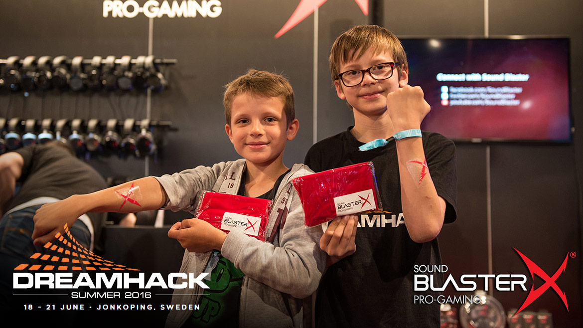 Sound BlasterX Celebrates DreamHack Summer 2016!