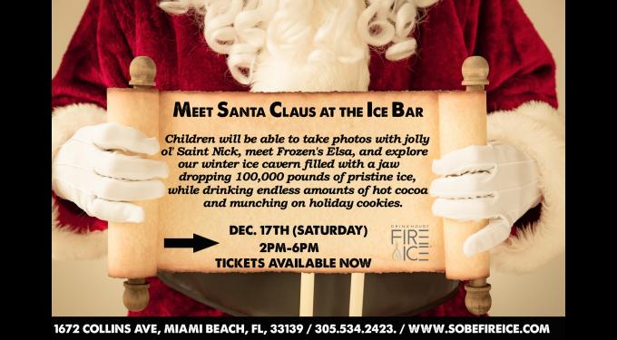 Meet Santa Claus and Elsa at the Ice Bar