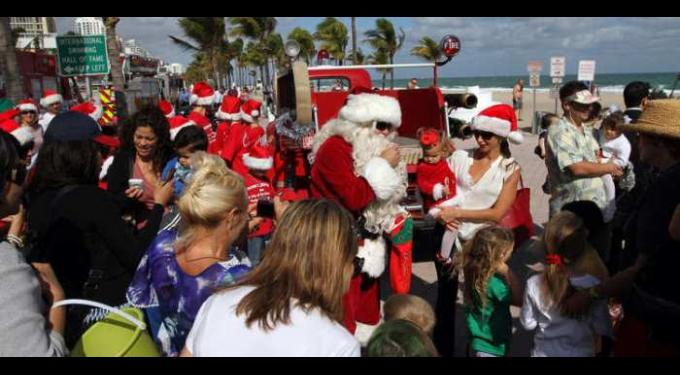 Annual Santa on the Beach