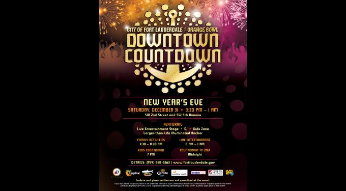 Fort Lauderdale Orange Bowl Downtown Countdown