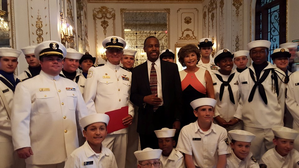 Navy Honor Guard with Ben Carson