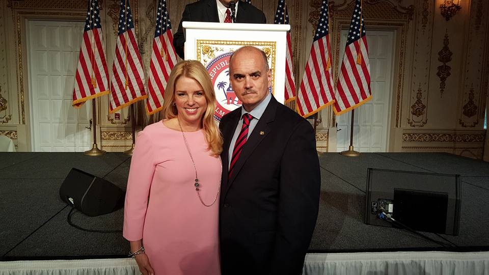 Another picture of Pam Bondi and Bill Lewis
