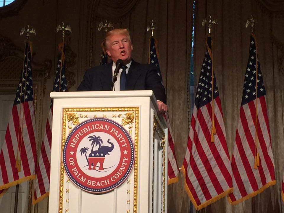 Donald Trump addressing Republican Party Of Palm Beach County Lincoln Day Dinner