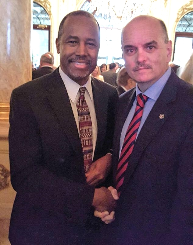 Dr Ben Carson with Bill Lewis