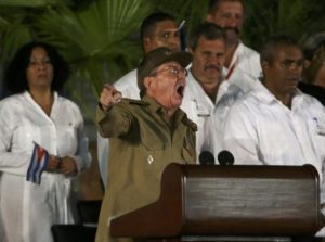 Cuban President Raul Castro speaks at a tribute to his brother and late former Cuban leader Fidel Castro in Santiago de Cuba, Cuba, December 3, 2016. REUTERS/Carlos Barria