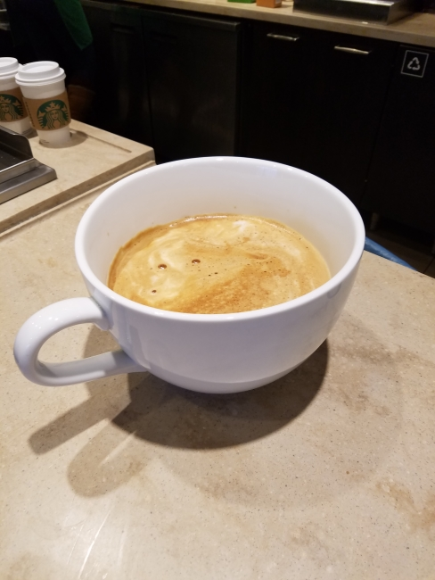 """Most expensive Starbucks coffee"" being made ©SouthFloridaReporter.com"