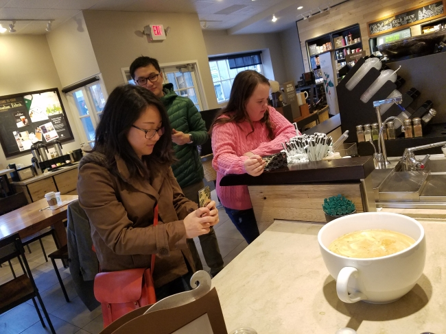 "Starbuck guest snapping picture of 'most expensive Starbucks coffee"" ©SouthFloridaReporter.com"