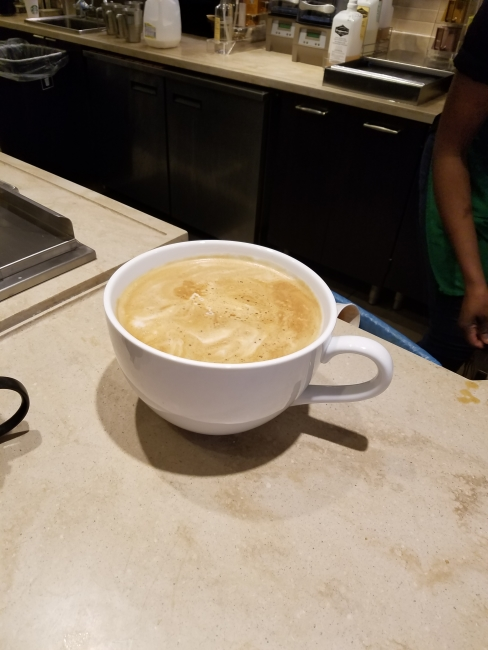 "No more room for coffee in ""most expensive Starbucks coffee"" cup ©SouthFloridaReporter.com"