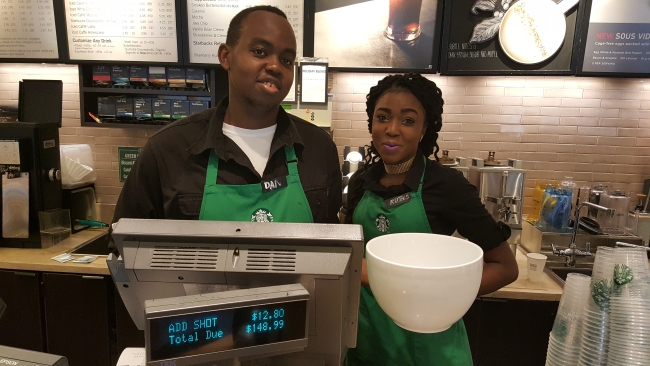 "The baristas have totaled the bill for the ""most expensive Starbucks coffee"" ©SouthFloridaReporter.com"