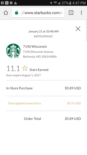 "The baristas had to adjust the bill for the ""most expensive Starbucks coffee"" ©SouthFloridaReporter.com"