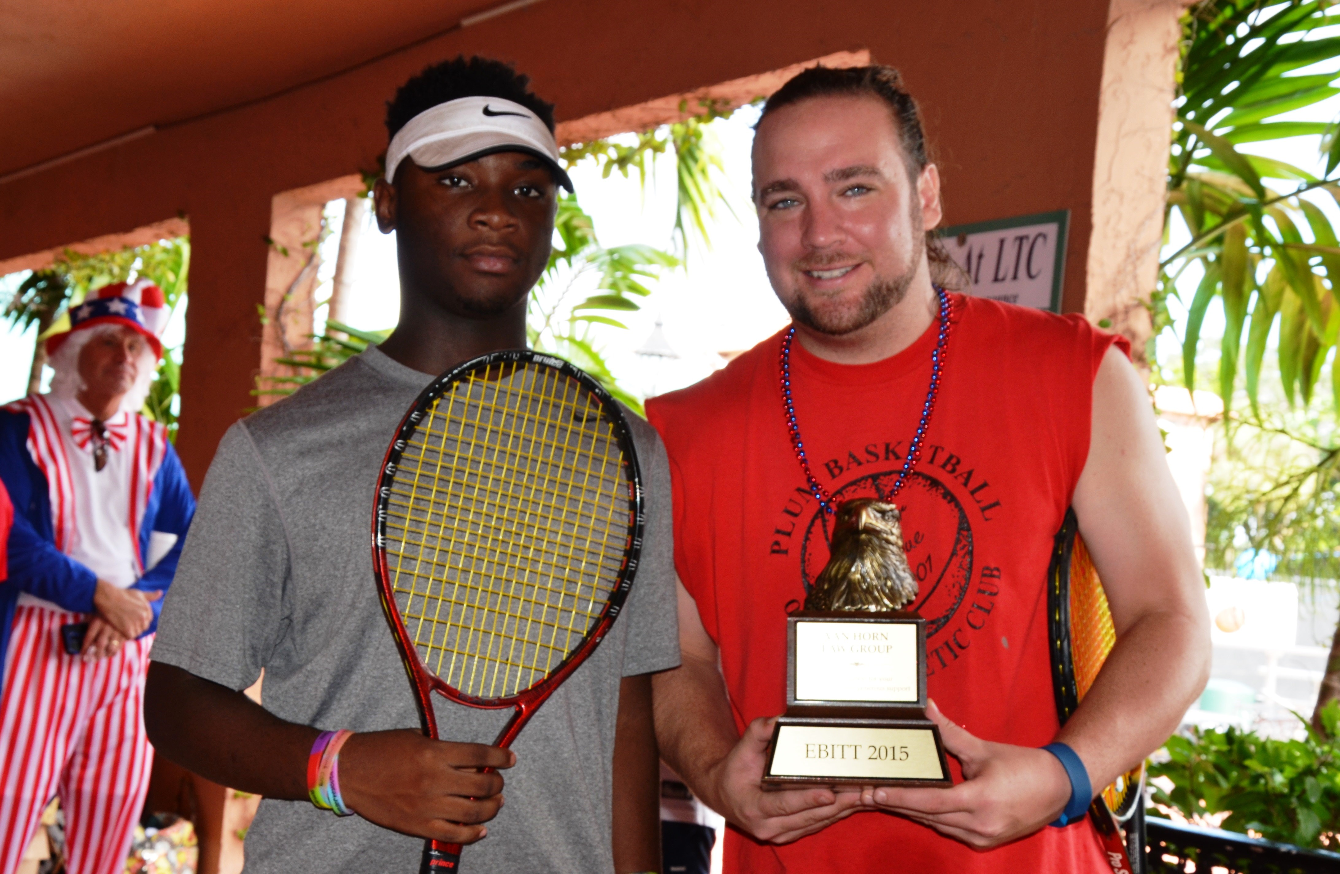 Chad Van Horn and Desmond at Tennis Event