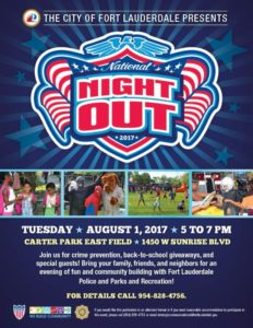 "Fort Lauderdale Police ""National Night Out"" @ Joseph C. Carter Park 