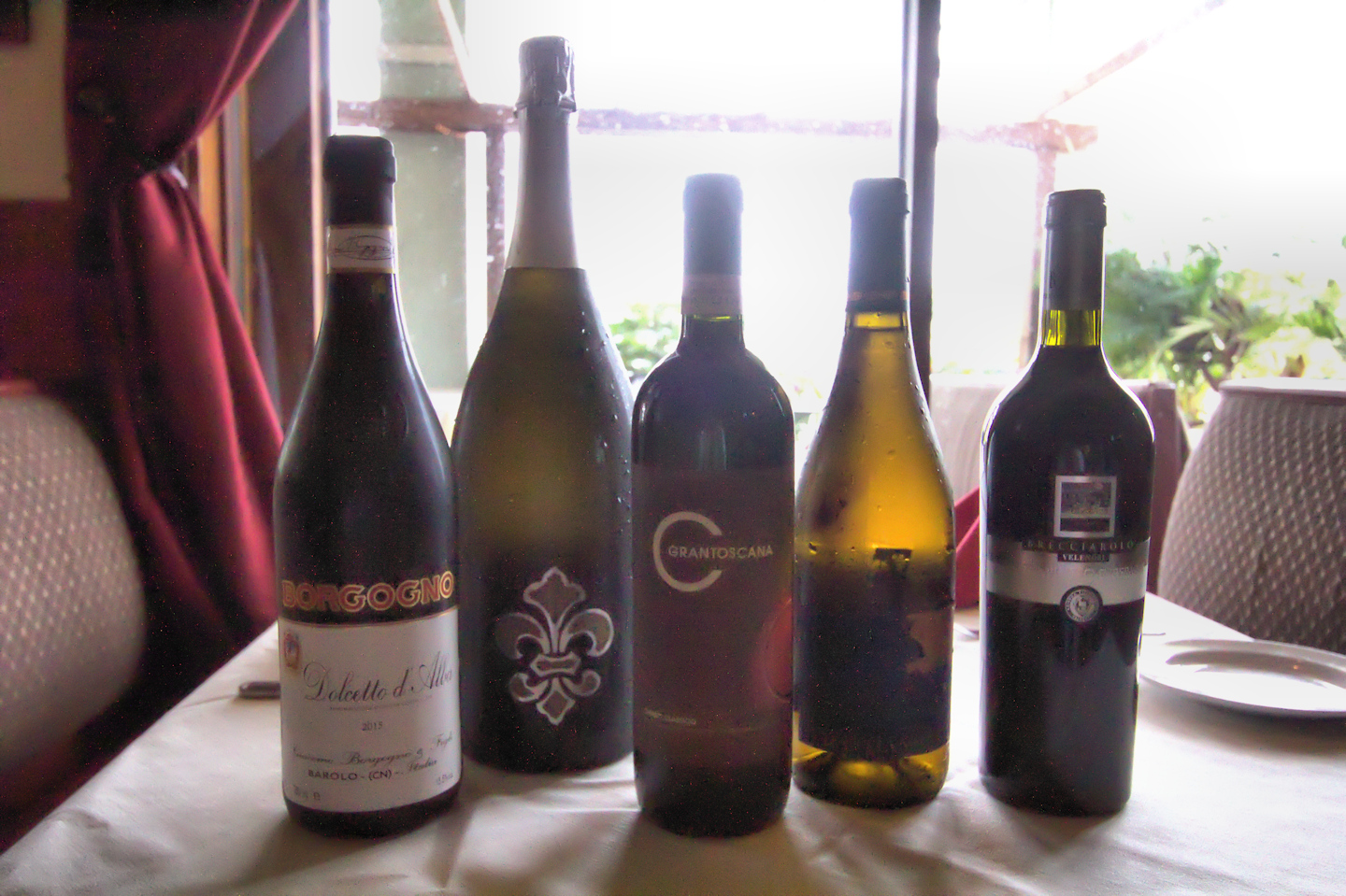 Wines for Italian tapas and wine pairing