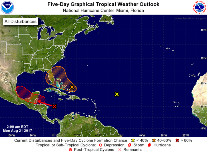Tropical system taking shape in the Gulf