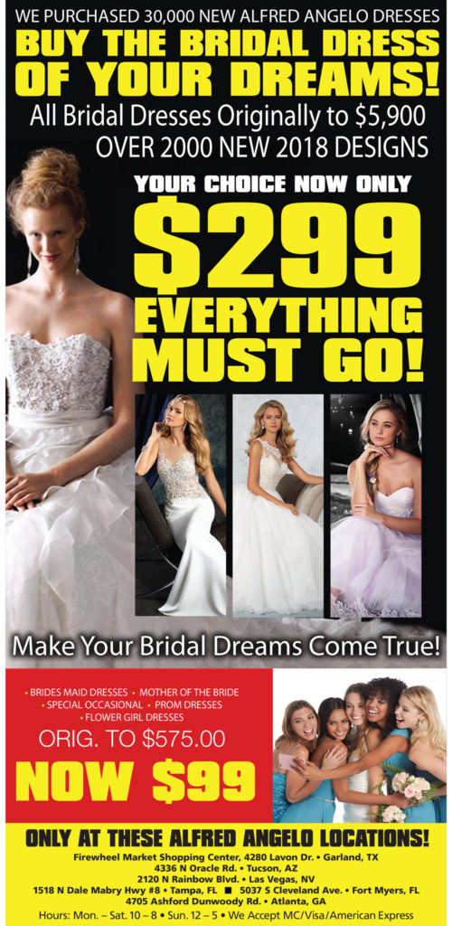 Liquidation Sale of Alfred Angelo Wedding Gowns - South Florida Reporter