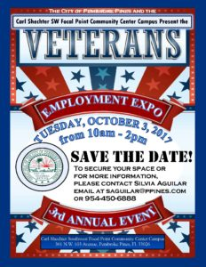 Third Annual United States MilitaryVeterans Employment Expo @ Carl Shechter Southwest Focal Point Community Center  | Pembroke Pines | Florida | United States